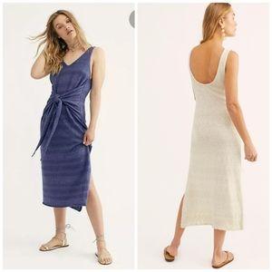 Free people blue Hamptons Maxi Dress